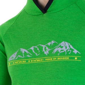 Herren Sweatshirt Sensor Merino Wool Obere Mountains green 15200022, Sensor