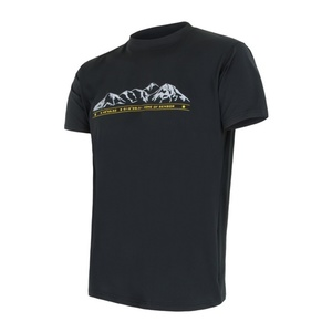 Herren T-Shirt Sensor PT Coolmax Fresh Mountains black 16100001, Sensor