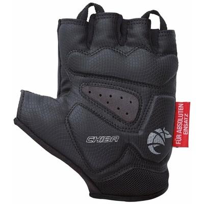 Cyklo Handschuhe Chiba GEL PREMIUM mit gel palme, black 30117.10, Chiba