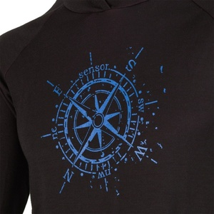 Damen Sweatshirt Sensor Merino Obere Kompass mit Kapuze black 16200103, Sensor