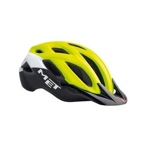 Helm MET Crossover reflexion gelb / weiß / schwarz, Met