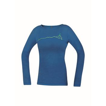 T-Shirt Direct Alpine Pelzige Lang Dame Benzin (Wirbelsäule)
