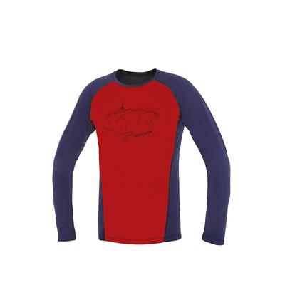 T-Shirt Direct Alpine pelzig long ziegel / indigo (Peak), Direct Alpine
