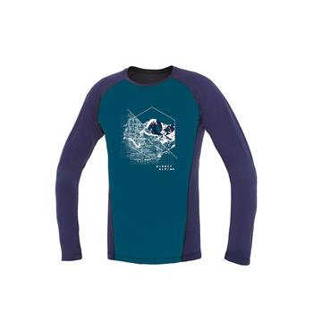 T-Shirt Direct Alpine Pelzige lange Benzin / Indigo (Stelle)