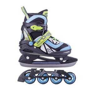 Skates Winter I Sommer Spokey ROGUE geregelt, schwarz/blau, Spokey