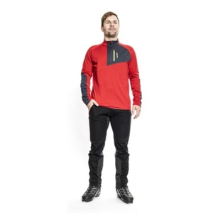 Herren Sweatshirt Silvini Ferrato MJ1108 rot-kohle, Silvini