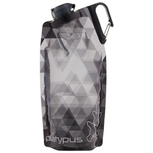Flasche Platypus DuoLock Softbottle Gray Prismen 1 l, Platypus
