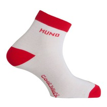 Socken Cycling Runnig white red, Mund