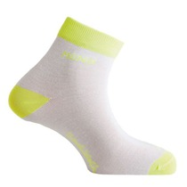 Socken Mund Cycling Runnig white yellow, Mund