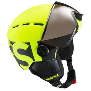 Ski Helm Rossignol Visor Jr.-Neon yellow/black RKGH500, Rossignol