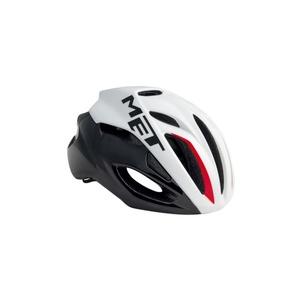 Helm MET rivale schwarz / weiß / rot, Met