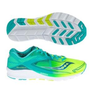 Damen Lauf Schuhe Saucony Kivara 7 Blaugrün / Zitrone, Saucony