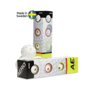 Set Floorball Bälle Salming Aero Ball 4-pack White, Salming