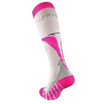 Kompression Kniestrümpfe ROYAL BAY® Air White/Pink 0388, ROYAL BAY®