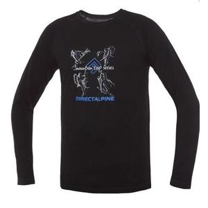 T-Shirt Direct Alpine pelzig Long black (aktivität), Direct Alpine