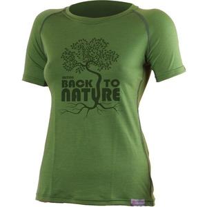 Merino T-Shirt Lasting BACK 6060 green Wolle, Lasting