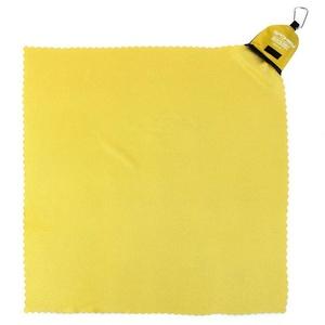 Schnell trocknend Handtuch Spokey NEMO 40x40 cm gelb mit karabinouu, Spokey