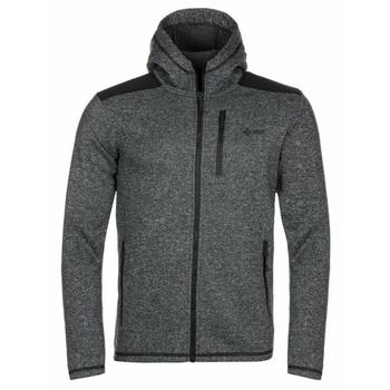 Männer Fleece-Sweatshirt Kilpi D ALB YM Schwarz, Kilpi