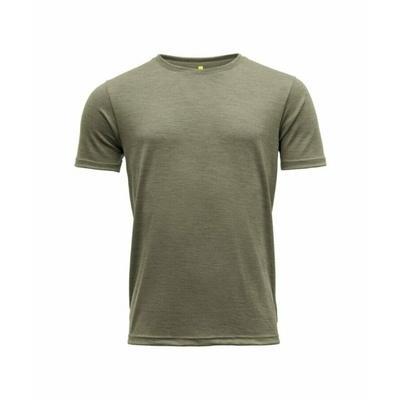 Herren Woll-T-Shirt mit kurzen Ärmeln Devold Eika GO 181 280 B 404A grün