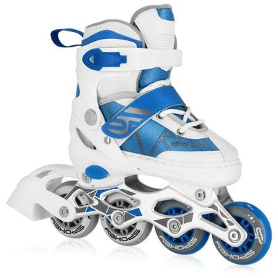Rollerskates Spokey TONY weiß und blau, Spokey