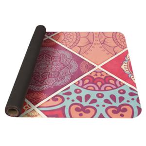 Unterlage  Yoga YATE Yoga Mat Muster A / Rosa / natürlich Gummi, Yate