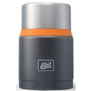Vacuum Thermosflasche  Lebensmittel von Edel- Stahl Esbit Lux mit löffel 0,75 l Grau / orange FJ750S