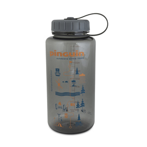 Flasche Pinguin Tritan Fat Bottle Grey 2020 1000 ml, Pinguin