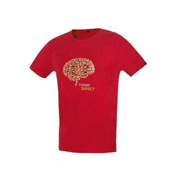 T-Shirt Direct Alpine Blitzlicht ziegelstein (Gehirn)