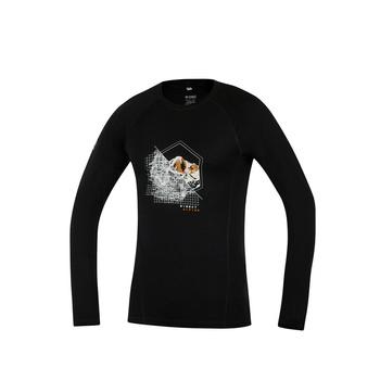 T-Shirt Direct Alpine Pelzige lange schwarz (Stelle)