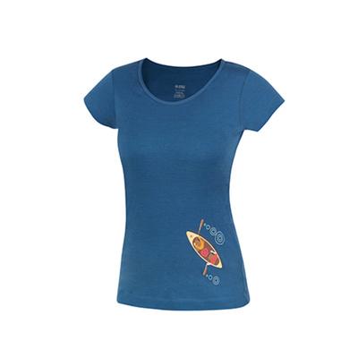 T-Shirt Funktionell pelzig Lady Petrol (kanu), Direct Alpine