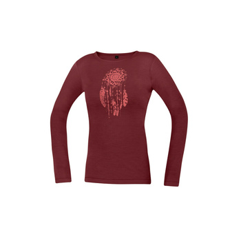 T-Shirt Direct Alpine Pelzige Lang Dame Rosenholz (Traumfänger)