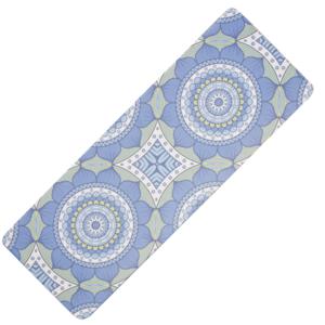 Unterlage  Yoga YATE Yoga Mat natural gummi / muster B / blau-grün, Yate