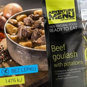 Adventure Menu Rindfleisch gulasch mit kartoffeln, Adventure Menu