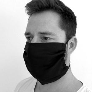 Monochrome Baumwolle maske KAMA mit tasche  Filter, Kama