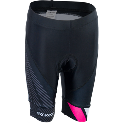 Kinder Radsport Hose Silvini Team CP1436 black/pink