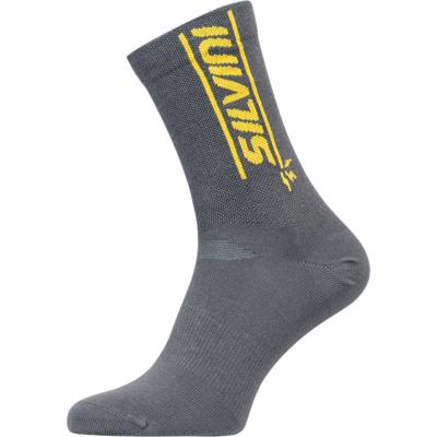 Radsport bullen Socken Silvini Avella UA1815 holzkohle / gelb, Silvini