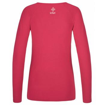 Damen-T-Shirt langarm Kilpi INA-W Rosa, Kilpi