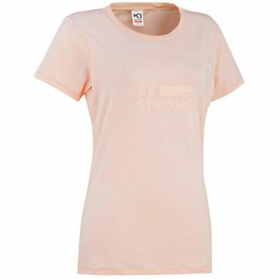 Damen stilvolle Kurzarm-T-Shirt Kari Traa Tvilde 622450, rosa, Kari Traa