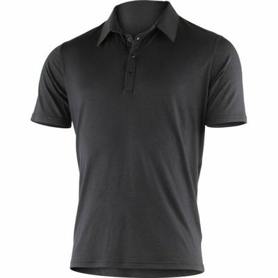 Herren Merino Polo hemden Lasting JARIS-9898 Schwarz, Lasting