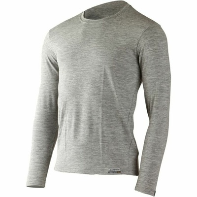Herren Merino hemd Lasting LOGAN-8484 grau, Lasting