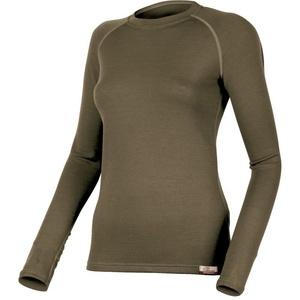 Merino Sweatshirt Lasting LENA 6363 green Wolle, Lasting