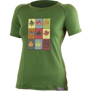 Merino T-Shirt Lasting Mari-Blatt 6060 green Wolle, Lasting