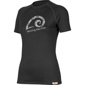 Merino T-Shirt Lasting MERILA 9090 black Wolle, Lasting