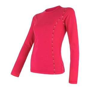 Damen T-Shirt Sensor MERINO AIR magenta 17200013, Sensor