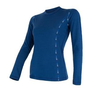 Damen T-Shirt Sensor MERINO AIR dark  blue 17200014, Sensor