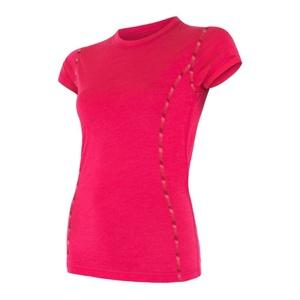 Damen T-Shirt Sensor MERINO AIR magenta 17200011, Sensor