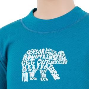 Kinder T-Shirt Sensor MERINO DOUBLE FACE BEAR blue 17200037, Sensor