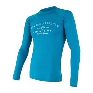 Herren T-Shirt Sensor MERINO DF LABEL blue 18200017, Sensor