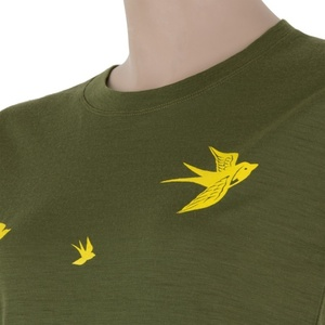 Damen T-Shirt Sensor MERINO ACTIVE PT SWAL LOW safari 17200028, Sensor