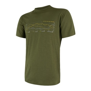 Herren T-Shirt Sensor MERINO ACTIVE PT TRACK safari 17200026, Sensor